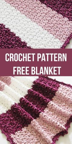 This free crochet blanket pattern features a unique lace stitch and a gorgeous picot border. The easy step by step tutorial is suitable even for beginners. This afghan looks luxurious in chunky Bernat Velvet yarn. Make one for you or for your baby. Crochet Blanket Tutorial, Afghan Crochet Patterns, Blanket Crochet, Afghan Blanket, Blanket Yarn, Blanket Basket, Ripple Afghan, Crochet For Beginners Blanket, Crocheting Patterns