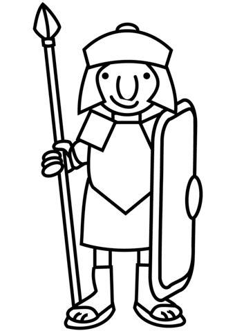 Cartoon Roman Soldier Ausmalbild Malvorlagen Romische Soldaten