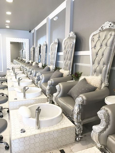 Nail Salon Decorating Ideas Elegant Nail Salon Design Nail Salon