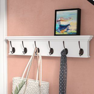 Coat Rail White Wood Wayfair Wall Mounted Coat Rack Wall Mounted Clothing Rack Coat Rack Wall