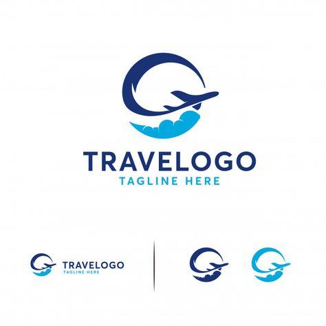 Simple travel logo Premium Vector | Premium Vector #Freepik #vector #logo #travel #water #city