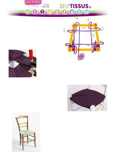 Epingle Par Monique Sur Rempaillage Chaise En Tissu Assise De Chaise Rempaillage Chaise Chaise