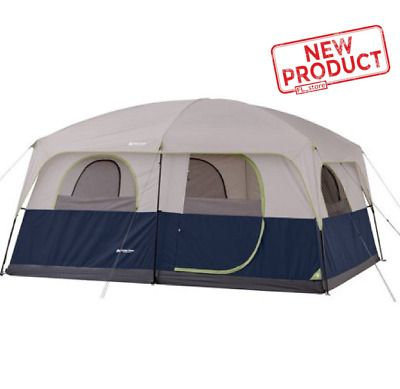 Details About Ozark 10 Person 2 Room Cabin Tent Waterproof Rainfly Camping Hiking Outdoor New In 2020 With Images 10 Person Tent Cabin Tent Family Tent Camping