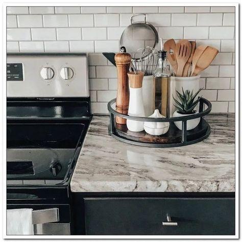 girls night idea decor swap party plans and prints 39 « Home Design Home Kitchens, Kitchen Countertop Decor, Sweet Home, Kitchen Inspirations, Kitchen Decor, Countertop Decor, Kitchen Counter Decor, Decor Essentials, Kitchen Dining