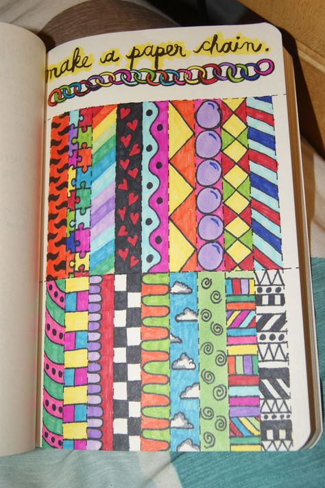 Make a paper chain #wtj #wreckthisjournal                                                                                                                                                                                 More