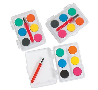 Paint Sets 134569 Mini Kids Watercolor Paint Sets With Brush 12