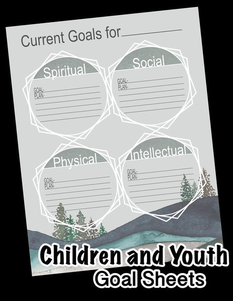 new yw theme printable free 2020 Primary Activities, Young Women Activities, Activities For Boys, Indoor Activities, Therapy Activities, Summer Activities, Goals Sheet, Young Women Handouts, Interactive Poster