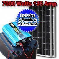 Solar Powered Generator 135 Amp 7000 Watt Solar Generator Just Plug And Play Not A Kit Solarpane In 2020 Solar Powered Generator Solar Energy Panels Solar Generator