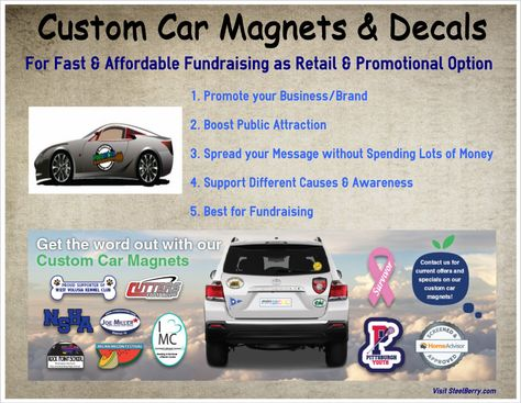 Get Unique And Attractive Custom Car Magnets From SteelBerrycom - Car magnets custom   promote your brand