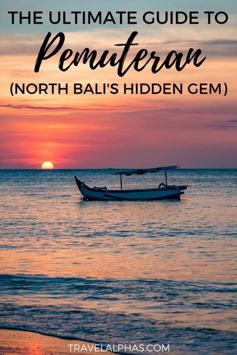 If you're traveling to Bali soon, then there's a secret you need to hear! On the North Coast of Bali, there's a small fishing village called Pemuteran, and you need to add it to your itinerary. If you're ready to get off the beaten path and experience some amazing seafood, snorkeling, diving, wildlife, relaxation, and friendly hospitality, then Pemuteran is the place for you! Pemuteran | Bali | Bali Travel Guide | Pemuteran Beaches | Things to do in Pemuteran | Pemuteran resorts