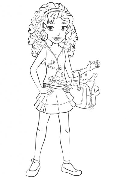 Andrea Lego Friends Coloring Page   Toys Coloring Pages ...