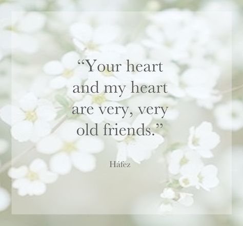 """""""Your heart and my heart are very, very old friends."""" So sweet I love this."""