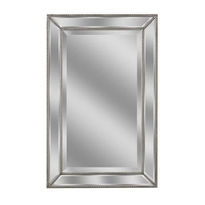 Metro 20Inch x 32Inch Beaded Mirror in Silver Bed Bath Beyond