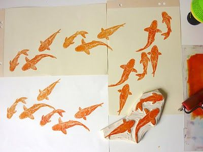 koi stamps by ahoi meise