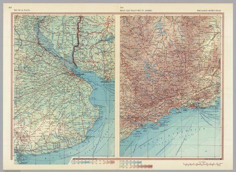 Mapa Historico Rio De La Plata Brazil Sao Paulo Rio De
