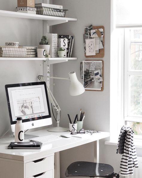 17 Ideas Desk Organization Diy Ideas Creative Office Decor Home Office Layouts Minimalist Desk Home Office Design