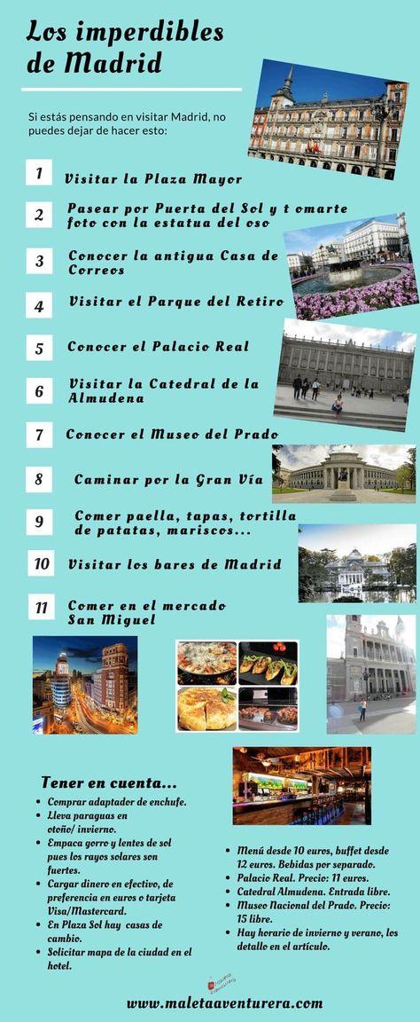 Los imperdibles de Madrid #españa #europa #viajes #travel #travelblogger #traveltips #travelblog