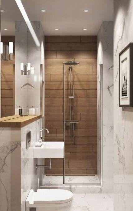 Trendy Bath Room Guest Decor Wood Walls Ideas Modern Small Bathrooms Small Bathroom Modern Bathroom Design