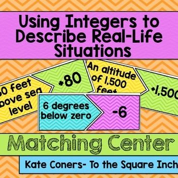 Using Integers To Describe Real Life Situations Center With