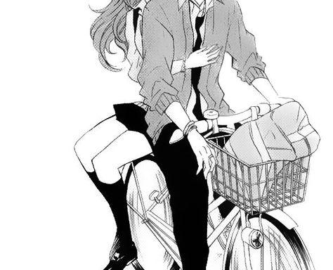 Manga Couple //Bucket List no 38 - Ride on the back of his bike // - Manga Anime, Art Anime, Manga Boy, Male Manga, Yandere Manga, Manga Couple, Anime Love Couple, Cute Anime Couples, Deidara Wallpaper
