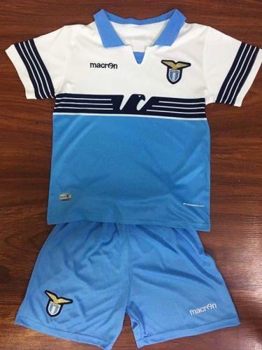 2018 19 Lazio Home Blue White Youth Kids Soccer Uniform Soccer Uniforms Kids Soccer Cheap Football Shirts