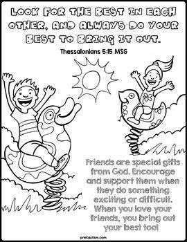 bible devotions friendship coloring