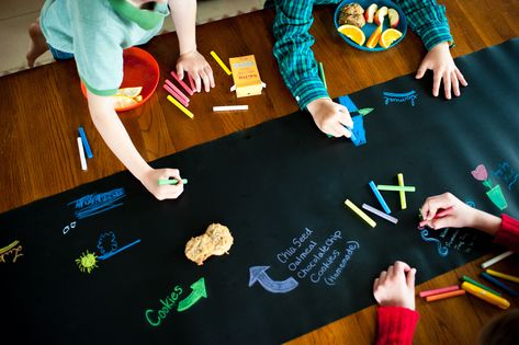 The Possibilities Are Endless With Our Reusable Black Board Table