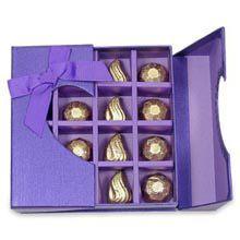 A Good Gift For Fiance Male Striking Purple Chocolate Box