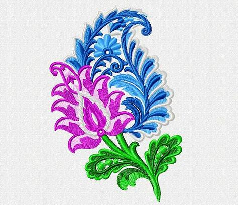Paisley Embroidery Design Flower Embroidery Flowers Embroidery