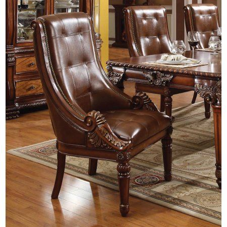 Simple Relax 1perfectchoice Winfred Formal Dining Arm Chair Crafted Solid Wood Rich Cherry Up Dining Chairs Upholstered Dining Chairs Traditional Dining Chairs