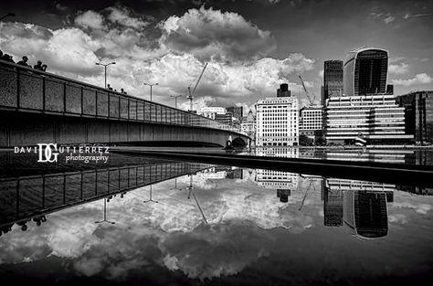 London Bridge in Black and White