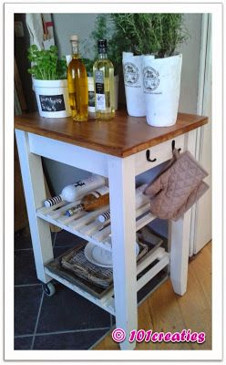 Keuken Bijzet Tafel.Gepimpte Bijzettafel Keuken Keuken Idee Keukentrolley En Ikea