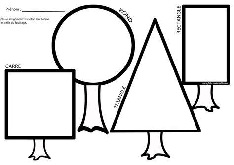 apprendre les formes géométriques, et trier des gommettes selon leurs formes