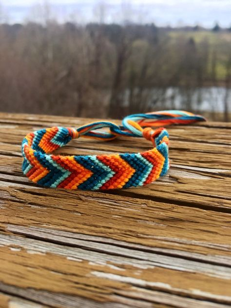 Your place to buy and sell all things handmade Yarn Bracelets, Diy Bracelets Easy, Embroidery Bracelets, Summer Bracelets, Bracelet Crafts, Cute Bracelets, Ankle Bracelets, String Bracelets, Diy Friendship Bracelets Tutorial