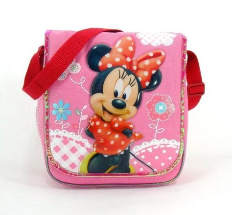 Minnie Mouse Insulated Lunch Tote - Minnie Is Red Dress with White Pokka Dot . $12.94. Messenger style lunch tote measures appox. 10