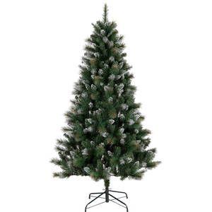 Christmas 195cm Snowy Alaskan Glitter Frosted Tree Frosted Tree Large Christmas Tree Glitter Frosting
