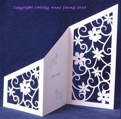 Freebie Floral Z Fold Card Cricut Birthday Cards Shaped Cards Fancy Fold Cards