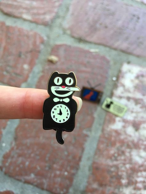Image of Kat Clock - Hard Enamel Pin