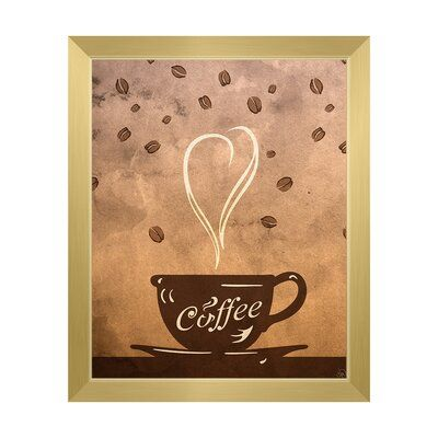 Click Wall Art Cup Of Coffee Framed Painting Print On Canvas Format Gold Framed Size 10 5 H X 12 5 W In 2020 Coffee Painting Canvas Canvas Painting Diy Cup Art