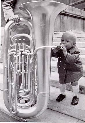 Image result for tooting on a tuba
