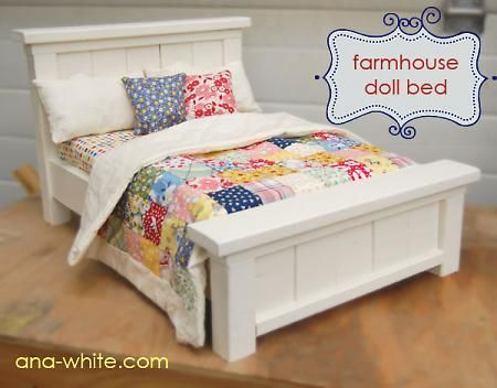 """18"""" doll bed."""