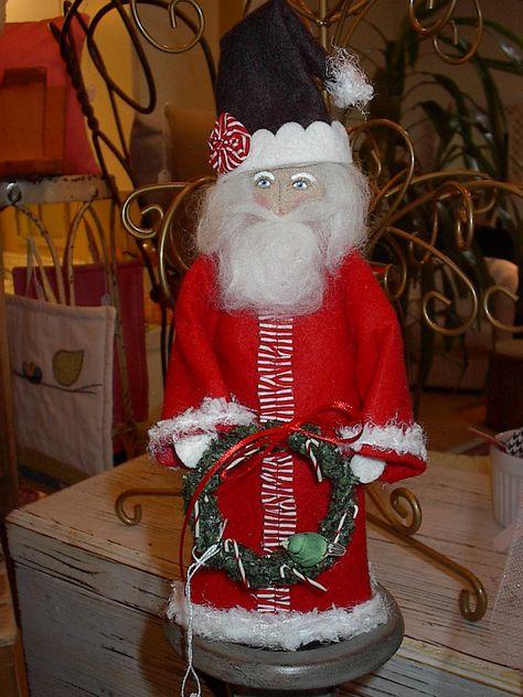 Santa Sewing Pattern Pdf Sewing Pattern Santa Primitive Whimsical