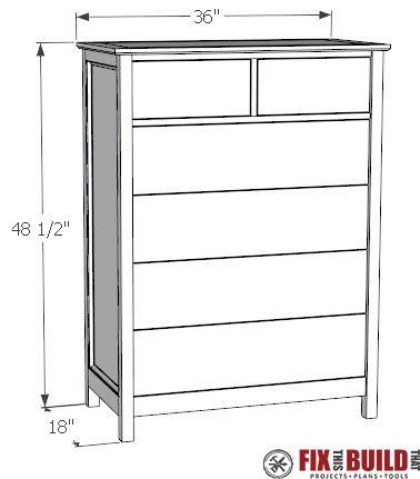 How To Build A Diy Dresser 6 Drawer Tall Dresser Fixthisbuildthat Diy Furniture Dresser Diy Dresser Plans Dresser Woodworking Plans