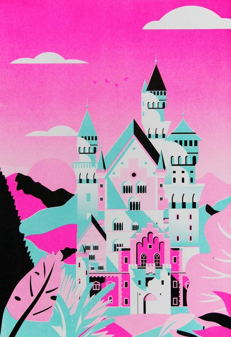 Colorful risograph by Cheng Peng