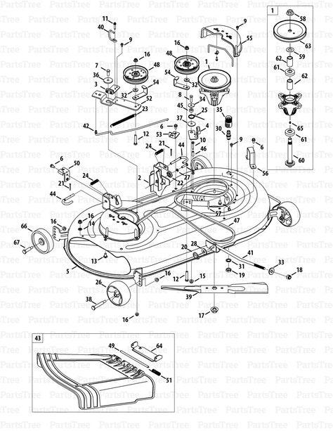 John Deere X300 Mower Deck Parts Diagram : deere, mower, parts, diagram, Tractor, Mower, Stuff