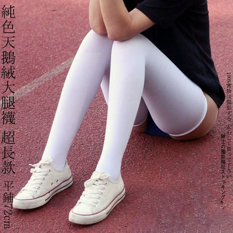 The+Tile+size+about+72+cm+length+,+It+have+good+elasticity+,+so+it+is+more+longer+.+  +Lengthened+thigh+socks+,+High+thighs+Stockings+.+  ~+Height+180cm+Fit+it+Great+~    Option+:  A+:+2+Pair+White  B:+2+Pair+Black  C:+1+Pair+White+&+1+Pair+Black  +  Material:+  High+quality+velvet++++  Color:+  ...