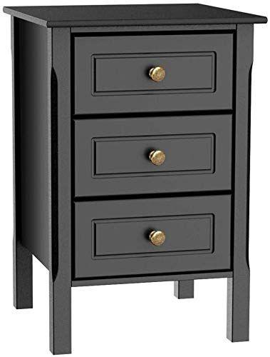 Buy Yaheetech Black Gloss 3 Drawers Bedside Table Cabinet Stylish Nightstands Antique Handle Bedroom Furniture Online Aristatopshop In 2020 Bedroom Furniture Online 3 Drawer Bedside Table Drawer Nightstand