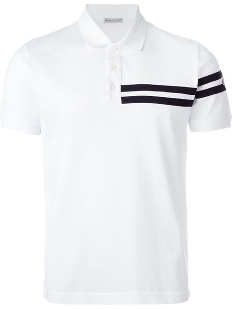 Shop Moncler striped applique polo shirt in Verso from the world's best independent boutiques at farfetch.com. Shop 400 boutiques at one address.