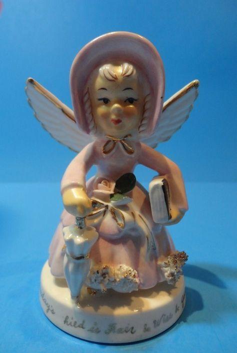 "Vintage Napco ""Sunday"" Angel of the Week figurine #S429G"