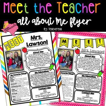 Editable Meet The Teacher Open House All About Me Teacher Edition Meet The Teacher Template Meet The Teacher Teacher Templates